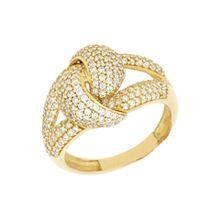 Firetti Goldring »Knoten, glänzend«, mit Zirkonia