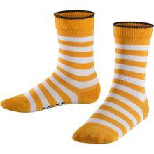 FALKE Kinder Socken Double Stripe, geringelt gelb