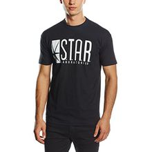 Coole-Fun-T-Shirts Herren T-Shirt S.T.A.R. Laboratories, Gr. Large, Schwarz (Damen)