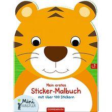 Buch - Mini-Künstler Mein erstes Sticker-Malbuch (Tiger)