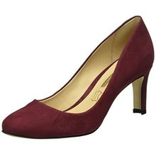 Buffalo London Damen ZS 6061-15 Nobuck Pointed Pumps, Rot (Cardovan 01), 37 EU