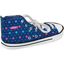 Schlampermäppchen Schuh Dots Blue blau
