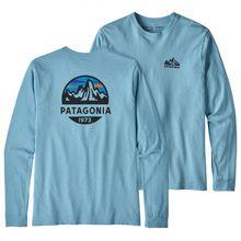 Patagonia - L/S Fitz Roy Scope Responsibili Tee - Longsleeve Gr L;M;S;XL;XXL grau/blau/türkis;grau