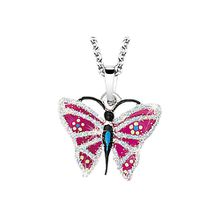 Kinder Halskette Schmetterling silber Mädchen Kinder