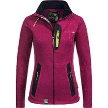 Geographical Norway Damen Strickfleecejacke Jacke Tazzera Stehkragen flashy pink XL