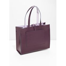 Duo Toned Tote Bag - Red