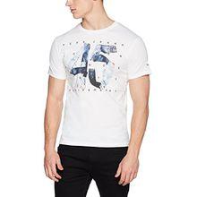 Pepe Jeans Herren T-Shirt 45 Anniversary Men, Weiß (Blanc Optic White), Small