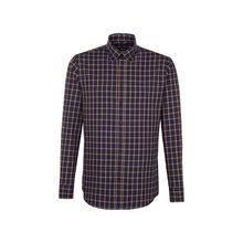 Seidensticker Business Hemd Slim Langarm Button-Down-Kragen Karo Langarmhemden gelb Herren