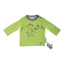 Sigikid Baby-Jungen Langarmshirt, Grün (Melange Agr592 390), 74