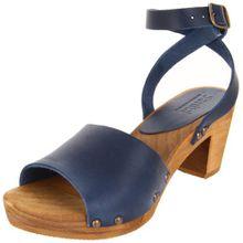 Sanita Yara Square Flex Sandal, Damen Knöchelriemchen Sandalen, Blau (Blue 5), 40 EU