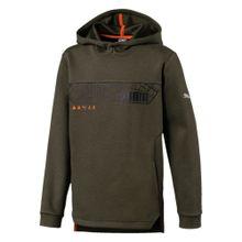 PUMA Shirt khaki / orange / schwarz / silber