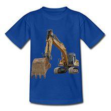 Spreadshirt Bagger Kinder T-Shirt, 98/104 (3-4 Jahre), Royalblau