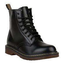 Stiefelparadies Coole Worker Boots Kinder Outdoor Stiefeletten Profil Sohle Schuhe 150318 Schwarz Brito 36 Flandell