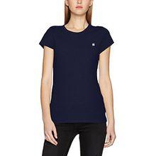 G-STAR RAW Damen T-Shirt Eyben Slim R T Wmn S/S, Blau (Sartho Blue 6067), 34 (Herstellergröße:XS)
