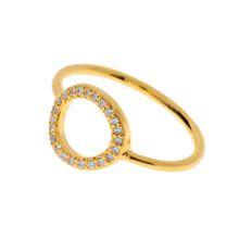 Circle Of Life Ring mit Zirkonia Steinen, 18 K Gelbgold vergoldet