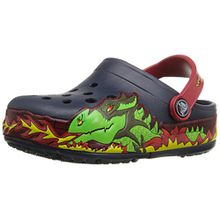 crocs CrocsLights Fire Dragon Clog Kids, Jungen Clogs, Blau (Navy), 23/24 EU