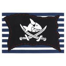 Spiegelburg Kinderteppich Capt'n Sharky Piratenfahne gestreift schwarz-kombi