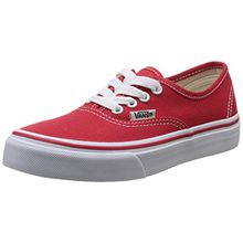 Vans K AUTHENTIC (WASHED) STARS/, Unisex-Kinder Sneaker, Rot (Red/True White 6RT), 32 EU