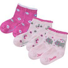 Soeckchen 3er-Pack Katze - Socken - rosa Mädchen Kinder