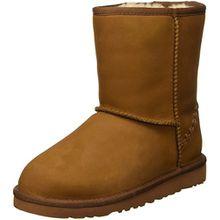 UGG Unisex-Kinder Classic Short Deco Kurzschaft Stiefel, Braun (Chestnut), 34 EU