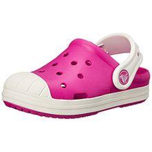crocs Bump It Clog Kids, Unisex - Kinder Clogs, Pink (Candy Pink/Oyster), 27/28 EU
