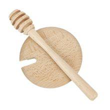 2teilig Honiglöffel mit Deckel Honig-Besteck Holz Buffet Geschirr