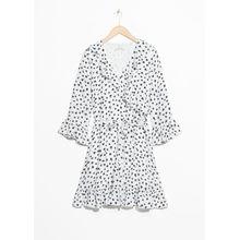 Tie Frill Dress - White