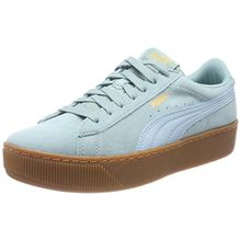 Puma Damen Vikky Platform Sneaker, Grün (Aquifer-Metallic Gold), 39 EU