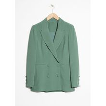 Oversized Long Blazer - Green
