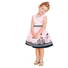 HUIHUI Kleid Mädchen, Toddler Mädchen Kleid Rosa Ärmellos Sommerkleid Party Prinzessin Dress Casual T-shirt Kleid Frühlings Herbst Cocktailkleid (3-4Jahre, Rose)
