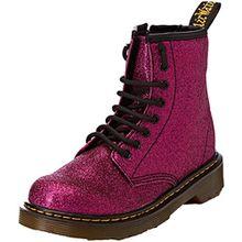 Dr. Martens Unisex-Kinder Delaney GLTR Klassische Stiefel, Violett (Purple 500), 34 EU