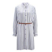 Heine Kleid mit Gürtel blau / weiß