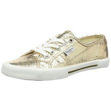 Pepe Jeans London Aberlady Metal, Damen Sneakers, Gold (099GOLD), 37 EU