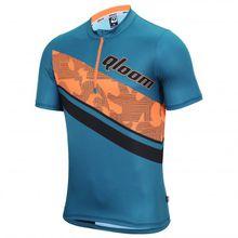 Qloom - Mornington Jersey S/S - Radtrikot Gr M;S blau;türkis/orange