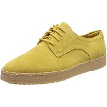Clarks Damen Lillia Lola Sneaker, Gelb (Yellow Suede), 41 EU