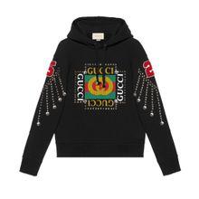Pullover mit Gucci Logo und Kristallen