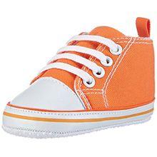 Playshoes Baby Sneaker 121535, Unisex-Kinder Sneaker, Orange (orange 39), 19 EU