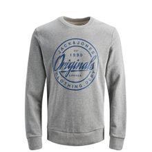 JACK & JONES Sweatshirt rauchblau / grau