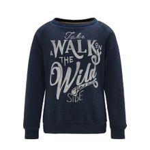 Petrol Industries Sweatshirt dunkelblau / silber