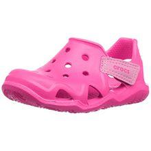 crocs Unisex-Kinder Swiftwater Wave Geschlossene Sandalen, Pink (Neon Magenta 6l0), 23/24 EU