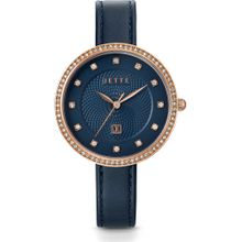 JETTE Uhr 'Time' navy / gold