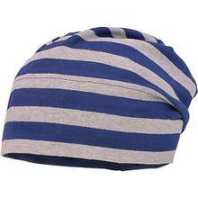 Topfmütze  blau/grau Jungen Kleinkinder