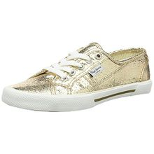 Pepe Jeans London Aberlady Metal, Damen Sneakers, Gold (099GOLD), 39 EU