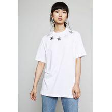 Givenchy T-Shirt mit Sternverzierung Weiß - 100% Baumwolle