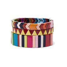 Roxanne Assoulin - Picnic Blanket Set Aus Drei Armbändern Mit Emaille - Gelb