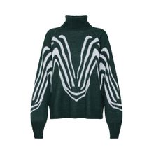 OBJECT Pullover grün / weiß