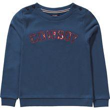 Sweatshirt ANGELIQUE mit Pailletten , Organic Cotton dunkelblau Mädchen Kinder