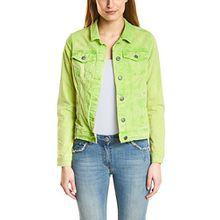 Cecil Damen Jeansjacke 210681 Hedda, Grün (Sulphur Green 11336), 46 (Herstellergröße: XL)