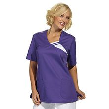 clinicfashion 12612016 Schlupfhemd lila für Damen, Mischgewebe, Größe S
