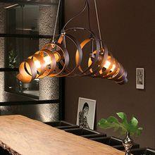 Henley Retro Loft Pendelleuchte Vintage Kronleuchter Spiralelampe Hängelampe Industrie Stil Design Esszimmer Lampe Eisen Wohnzimmer Leuchte Deckenbeleuchtung Pendellampe E27*2